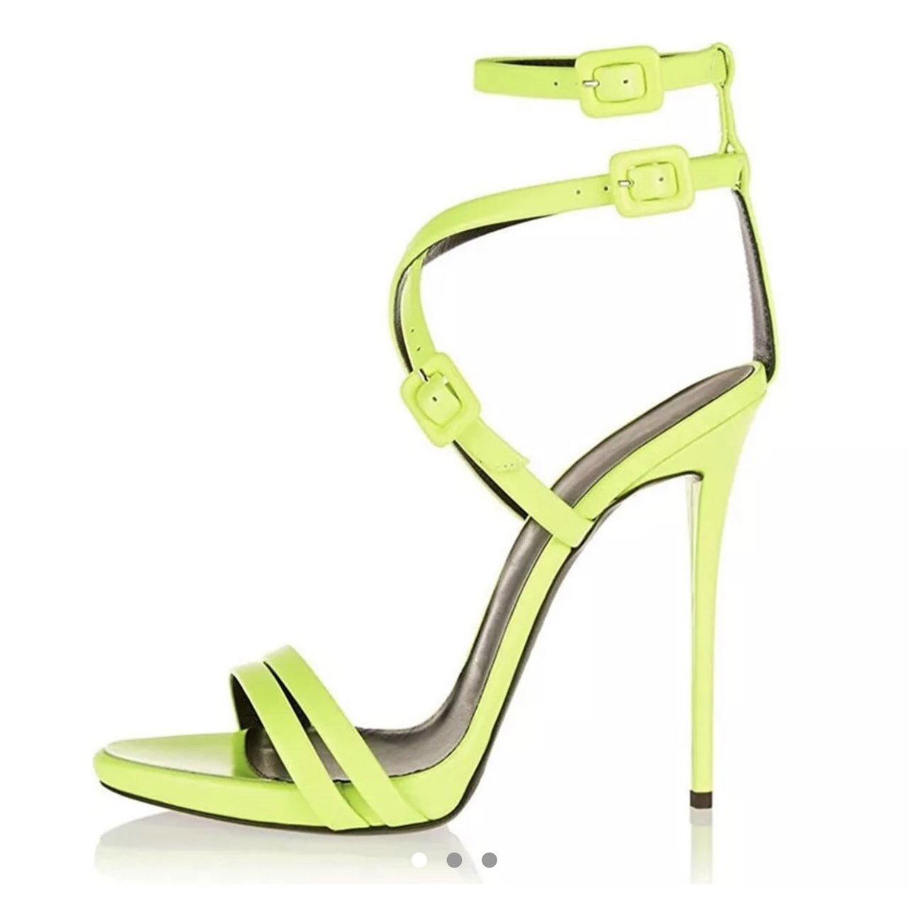 1783a43658d5 RARE Lime neon yellow   green strappy open toe gladiator . . - Depop