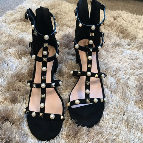 d1c9d45bd Brand new primark studded and pearl open toe sandals. Worn a - Depop