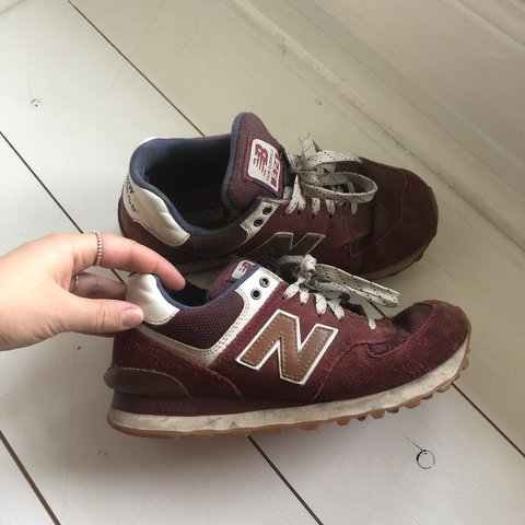 New White Balance 574 And 4 Worn Depop Size Well Burgundy WDY2H9IE