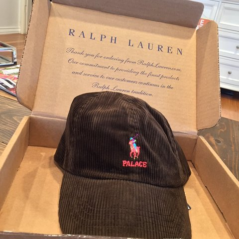 168665a77b6fa6 @trevsalcedo. 8 months ago. Long Beach, United States. Polo Ralph Lauren x  palace cap. Brown corduroy
