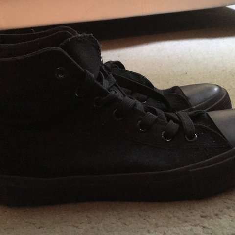 f493a66d1ec3 fake all black converse high ankle shoes