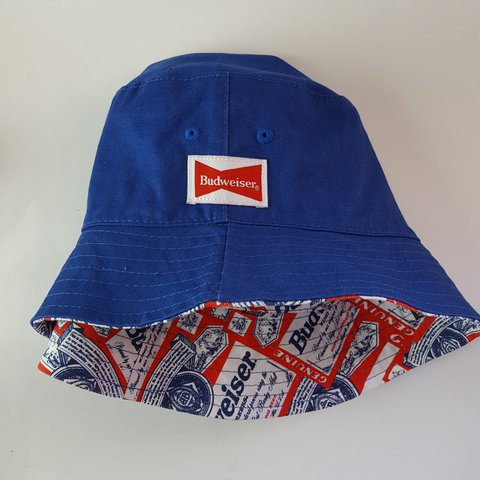 74b832528eb Budweiser X ALIFE collab reversible bucket hat. Perfect for - Depop