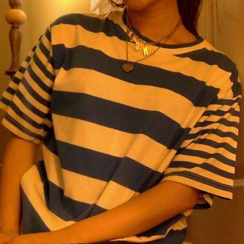 f0f87b93c0a7de @ally_nguyen. 3 days ago. United States. vintage blue thick striped t shirt  bright blue and white ...