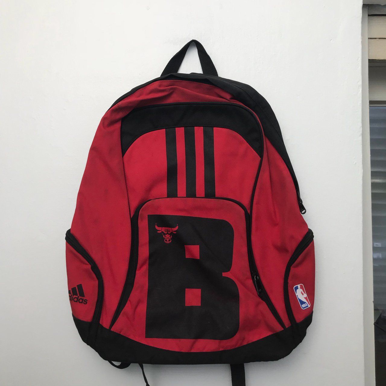 ADIDAS Chicago Bulls Backpack Used but in a good condition - Depop 7927f4a36