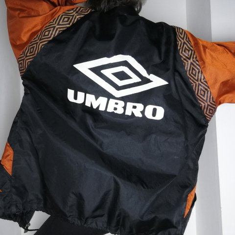 Early 90s Umbro Pro Training Waterproof Jacket With Foldaway Depop