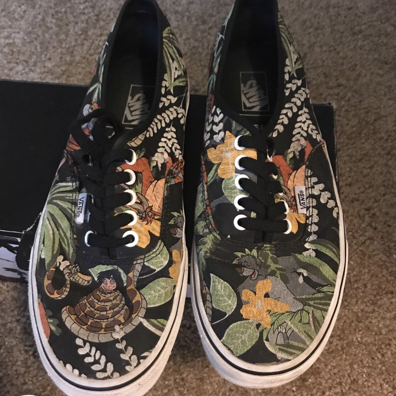 159cd61d1e60c4 Men s Jungle Book Vans size 9.5. Got for an Ex he wore them - Depop