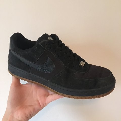 promo code 3ed0f d4b44  lucykell. 2 years ago. London, UK. RARE Nike Airforce 1 in black suede ...