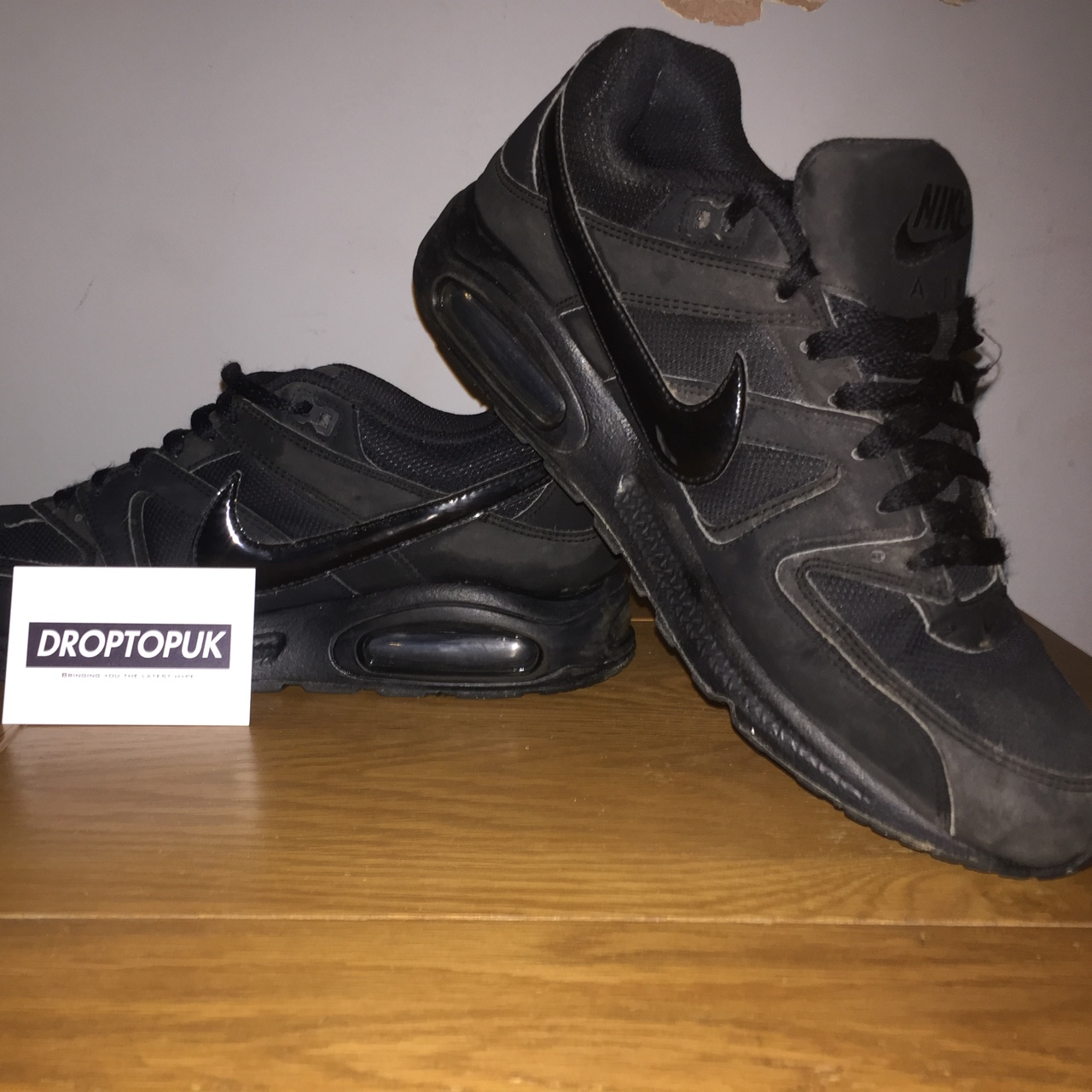 competitive price 4875f 3d7f8 Nike air max 90 triple black size 9 UK men's.... - Depop