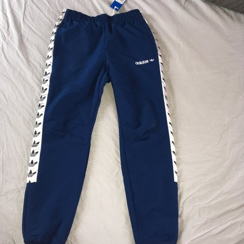 4cd651e5c6a2 BRAND NEW Blue adidas original taped woven track pants. for - Depop