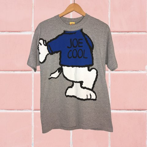 Peanuts Snoopy Joe Cool Tee Sick Graphic Classic Fire Depop