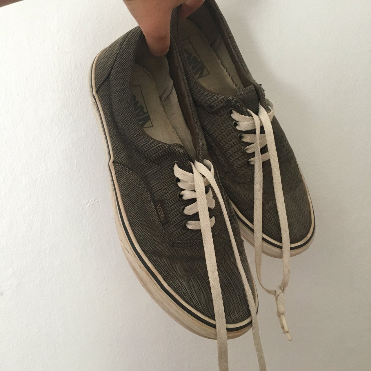 35a9b6cb65 Dark grey chevron vans era pro. Low tops. Good condition. hi - Depop