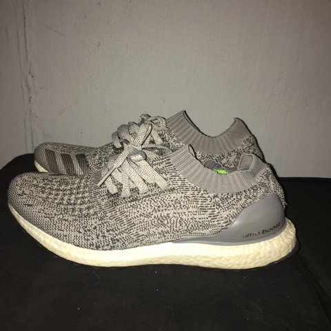 4c098b0da Grey Uncaged Adidas Ultra Boost. Clean pair of shoes. Only a - Depop