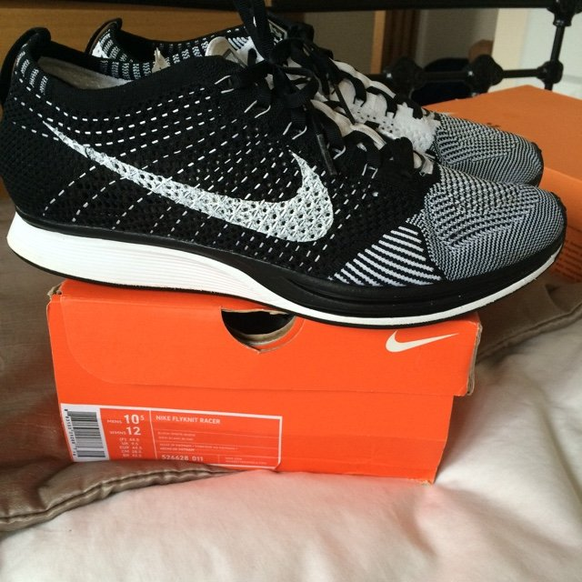 184670a3d14c Nike Flyknit Racer Uk9.5 worn around 4 times. 9.5 10 These - Depop