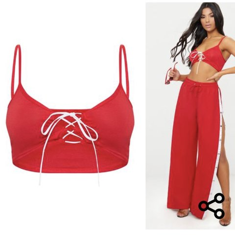 d71fe046d64 @eiramllaw. 4 months ago. Dublin, Ireland. Selling this red lace up crop top  ...