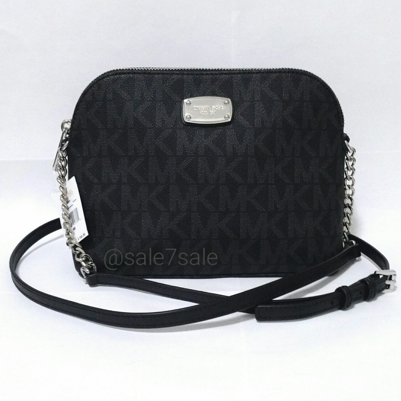 4c377712b1d9  sale7sale. last year. United States. NWT MK Cindy Dome Crossbody Bag Black