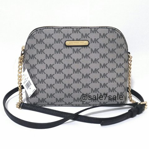 a1f50eae3b98a8 NWT MK Cindy Dome Crossbody Bag Black Grey •Brand new w/ 9
