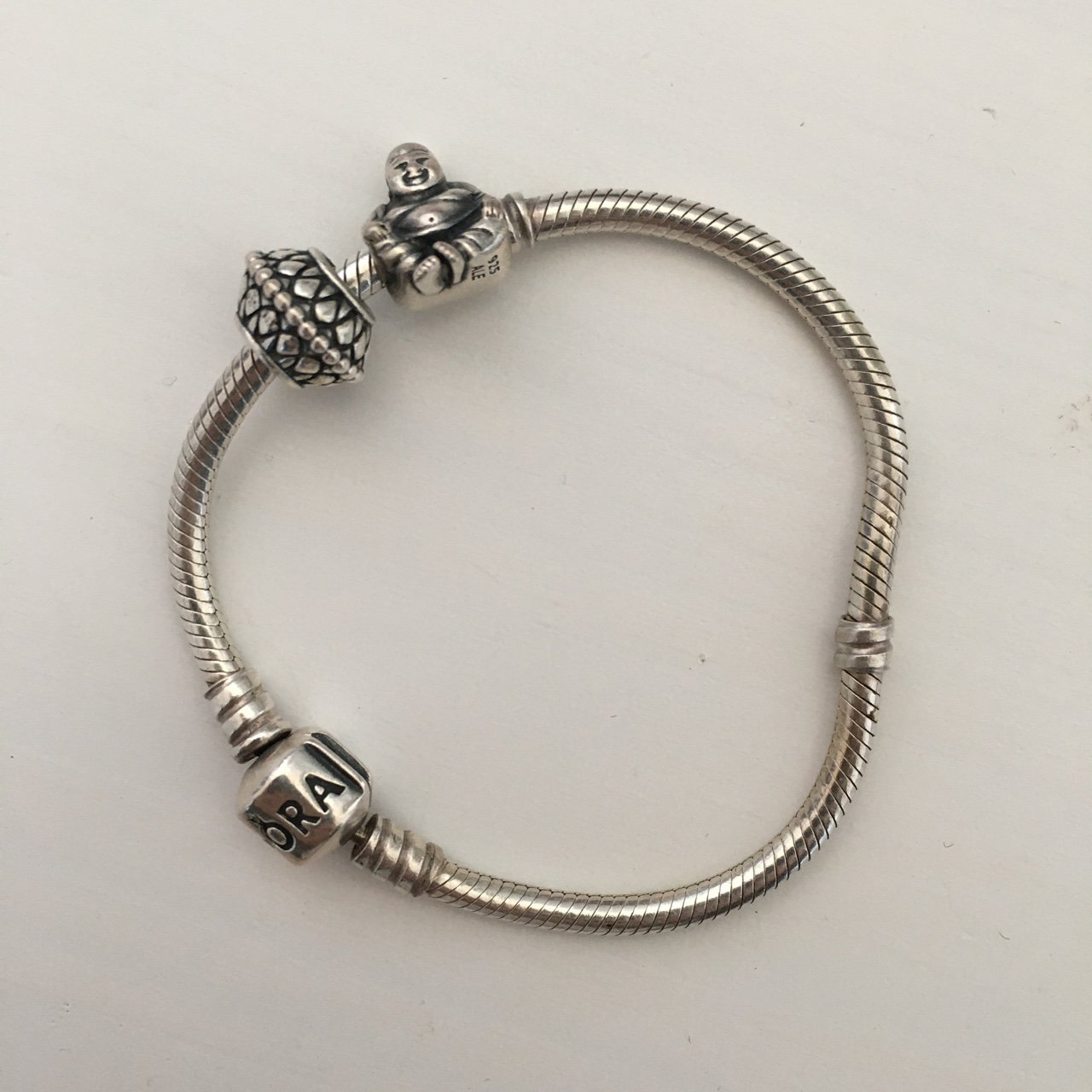 966eb53b1 Genuine pandora bracelet 16cm. With two charms. Can sell to - Depop