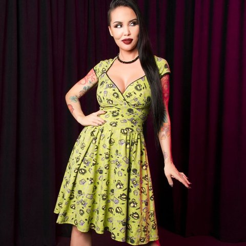 Nwt Pug Mr Skull Luscious Dress No Flaws Not Yard Sale Depop