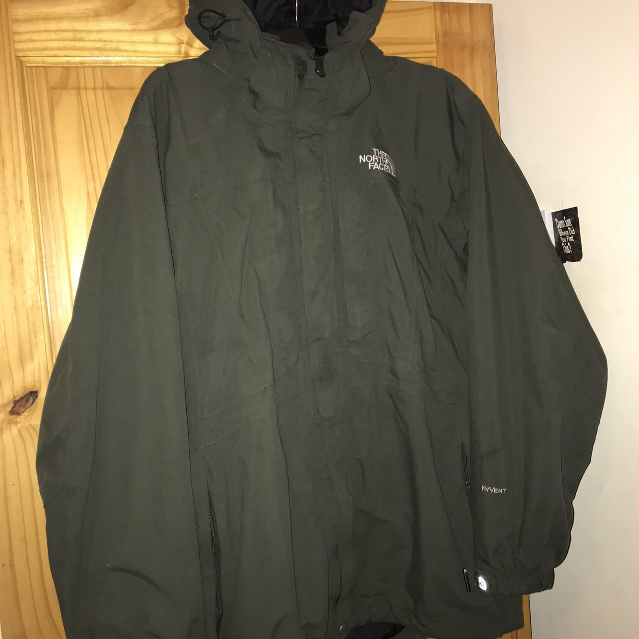 aef41a98d7 The North Face Hyvent Olive Green Jacket Size L Men s 9 10 - Depop