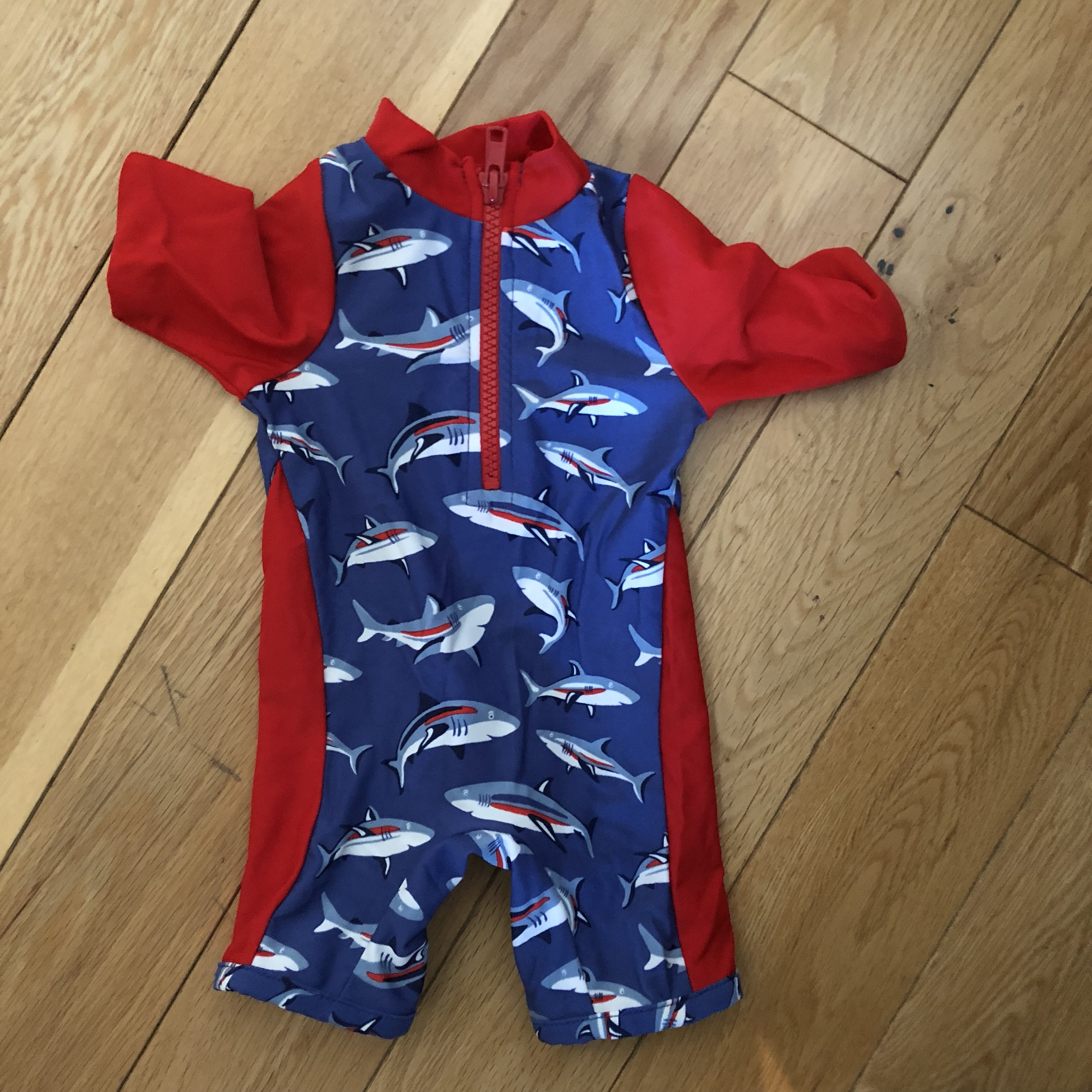 Cath kidston baby swimming suit all in one  Boys red    - Depop