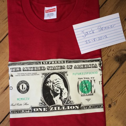Jxck Skinner1 2 Years Ago Borehamwood Uk Wts Supreme Dollar Tee Red