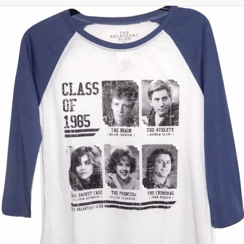 ec2522c931af1 Breakfast club yearbook graphic T-shirts Three-quarter size - Depop