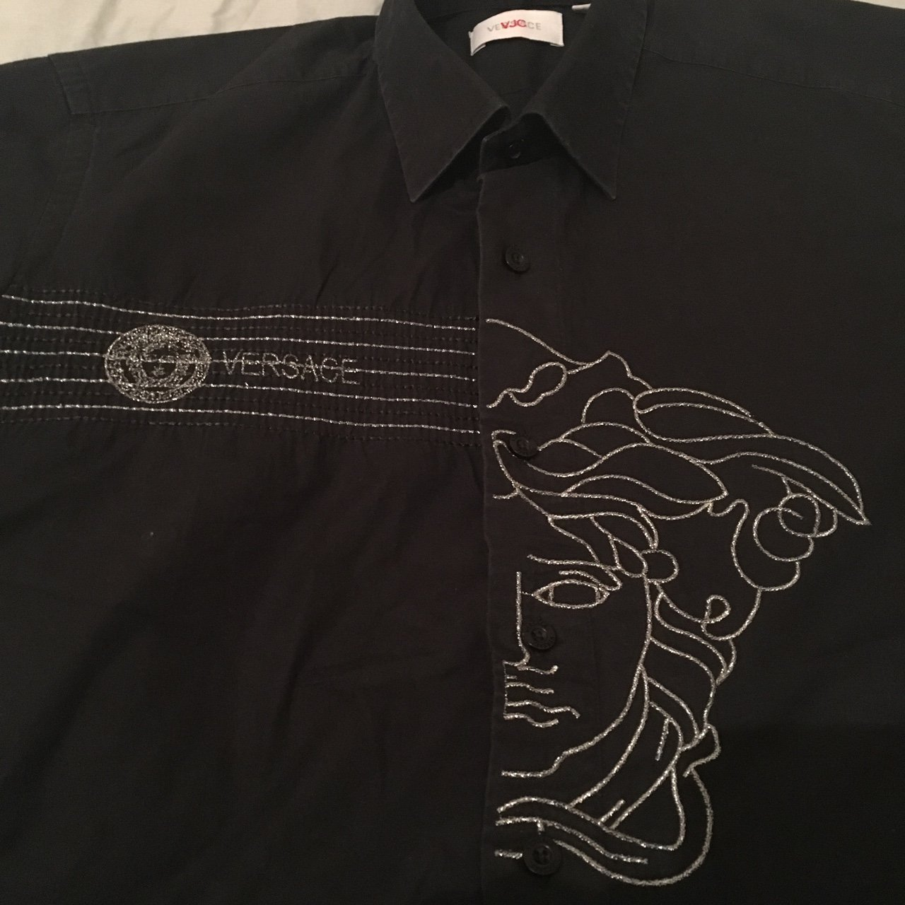 d0fd130b @kdfrancis. 11 months ago. Tonbridge, United Kingdom. Authentic Versace  Jeans Couture Medusa Head Black Shirt