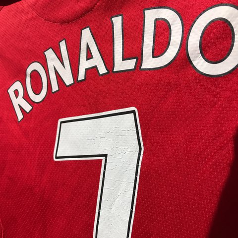 d0d5dff64 @mikesshop777. 2 years ago. Ontario, CA, USA. Dope Manchester United  Cristiano Ronaldo Nike Fit 2007 large Jersey!