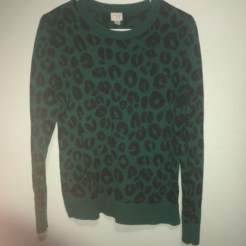 5eec0af94dac Green leopard print sweater by A New Day. Size Large. Would - Depop
