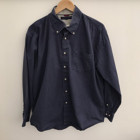 d4e7c9f06b @yourinternetcafe. last year. Swansea, United Kingdom. Smart casual Vintage  Tommy Hilfiger navy cotton shirt ...