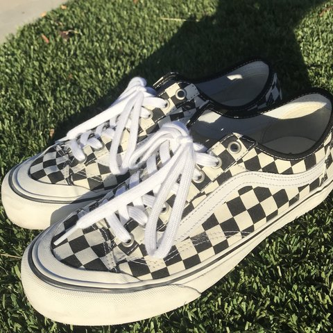 9d6470fd4c Checkerboard vans pro style 36 decon sf with ultracush Size - Depop