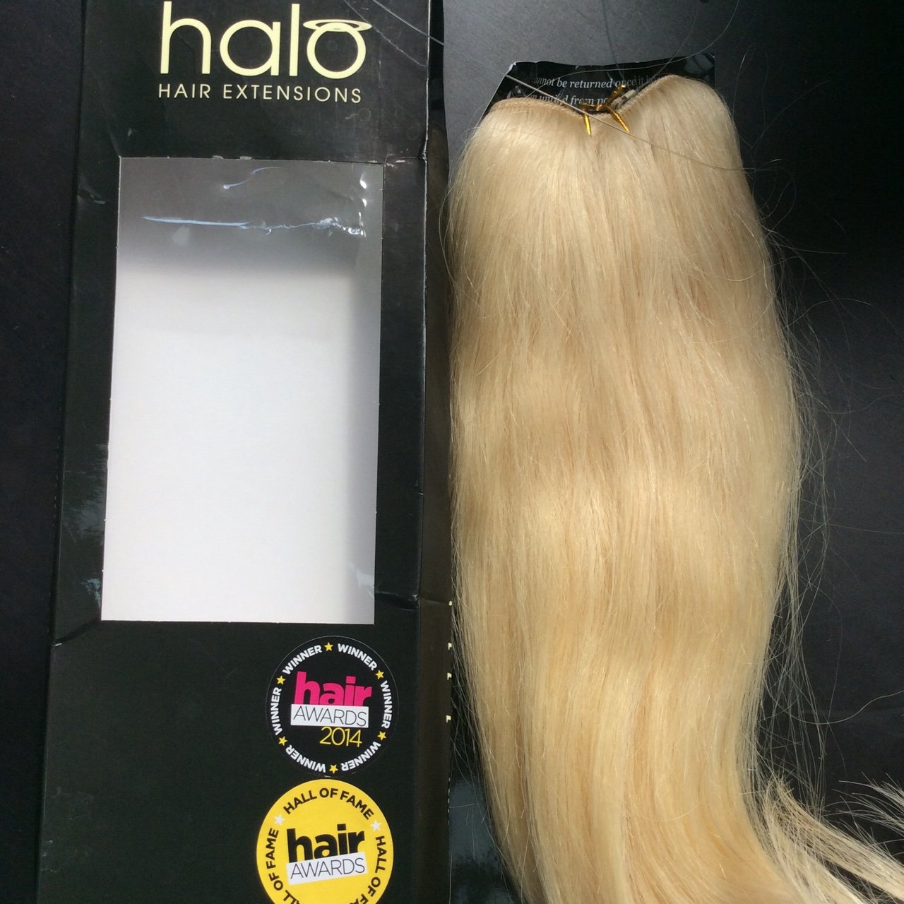 One Delux Halo 16 140g Hair 100 Indian Remy60 Bleach Depop