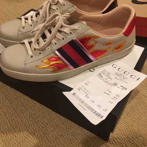 9f3f58754f51 @miisshanna. 8 months ago. Manchester, UK. Gucci Ace Flame sneakers ...