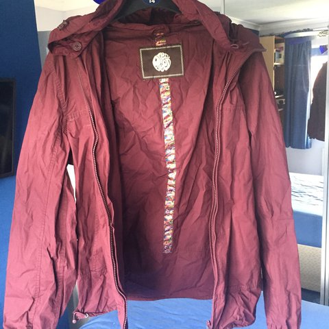 5dcedd2020a6e @liam_matthews. 2 years ago. Rugeley, United Kingdom. Maroon Pretty Green  outdoor festival jacket ...