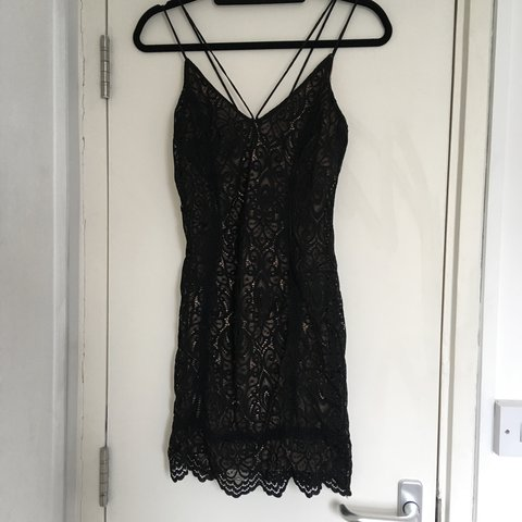 5155f6495121 @stephgreenwood. 28 days ago. London, United Kingdom. Topshop lace mini  body dress tight fitting, strappy, beautiful black ...