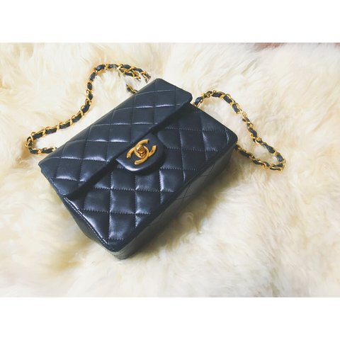 ef8630a20804 Rare Authentic chanel mini flap Lambskin Vintage Inner is - Depop