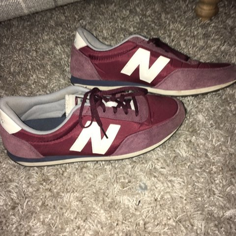 New balance 410 trainers Burgundyred white. Very Depop