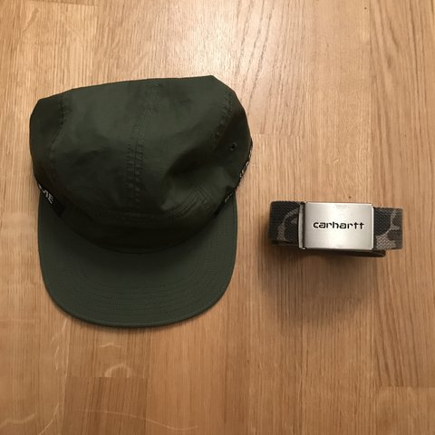 a920b3aacb5 Supreme Camp Hat + Carhartt Belt combo 50 chf for both Hat  - Depop