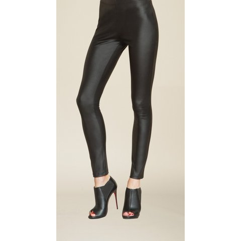 8fb2054c826d0f H&m Faux leather leggings/coated trousers in size 10. Have a - Depop