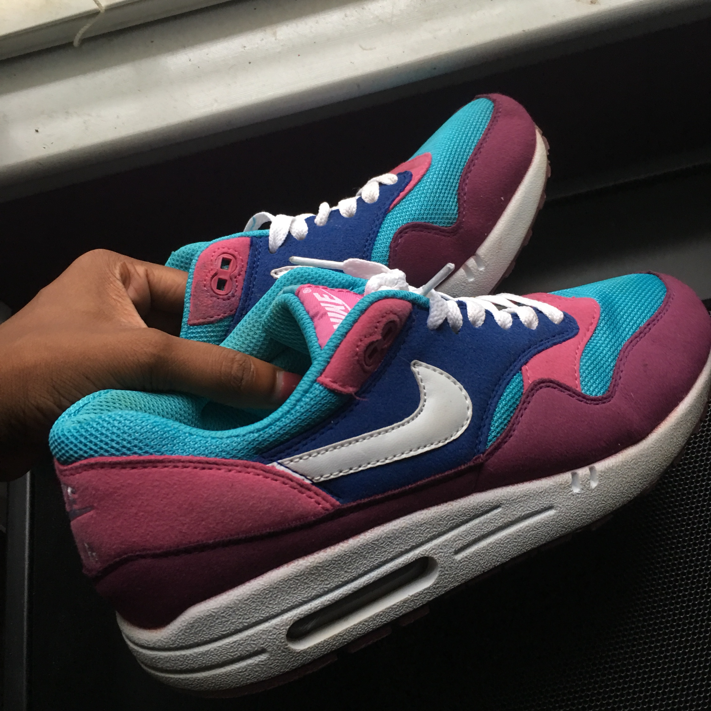 Nike Air Max 901 Blue Pink And Purple Style 1273 Depop