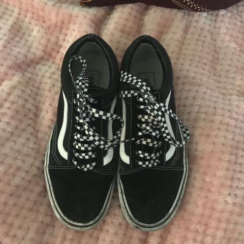 b18d1d012efdf2 Platform classic vans custom laces Only worn a few times