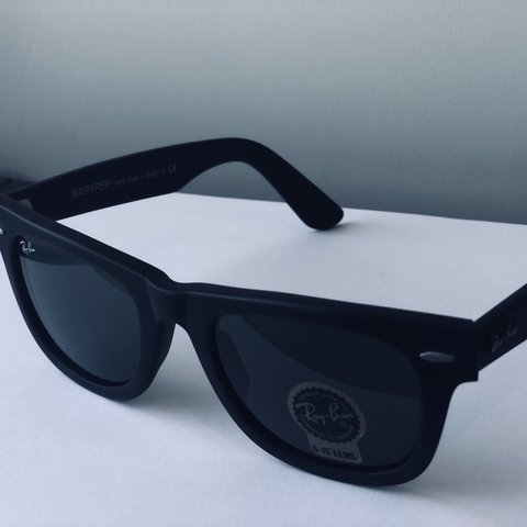 fb1807af89 Matt-Black ray ban sunglasses - Depop