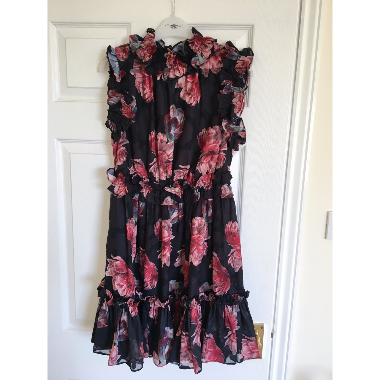 ff023e6aeb Genuine Ted Baker AW18 'FALLONN' tranquility ruffle dress in - Depop