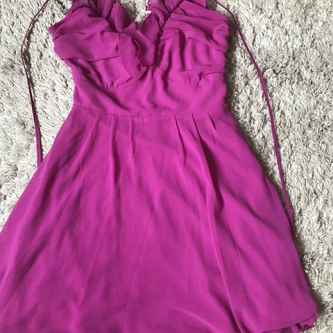 32374e5ccb5 Size 6 Fuschia summer dress  pink  fuschia  occasion  races - Depop