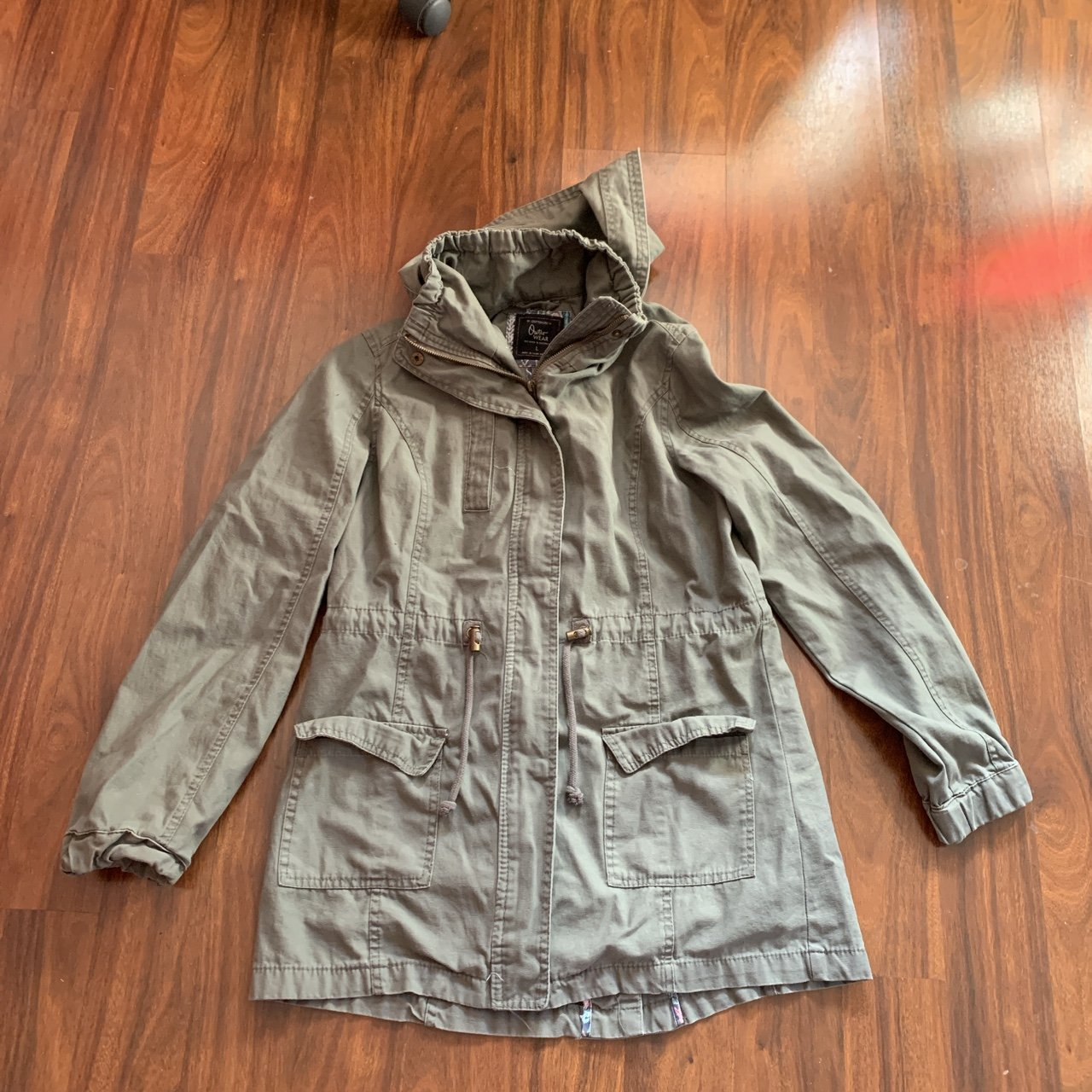 Cotton On Navy Blue Gray-ish Hooded Robe Also selling one 2 - Depop 7604eaff4