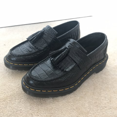 Selling my beautiful Dr. Martens Adrian Croc. Loafers Size 4 - Depop cb40abc63f9