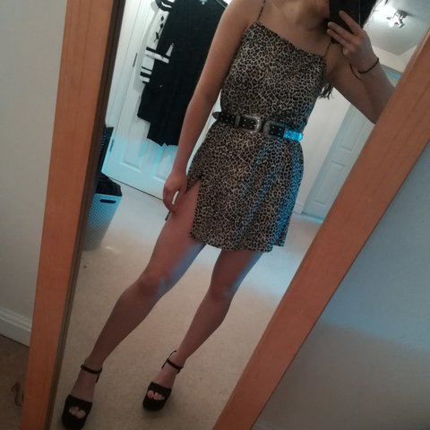 33c403dba341 @caulfieldclaire. 2 months ago. York, GB. Motel rocks leopard print slip  dress ...