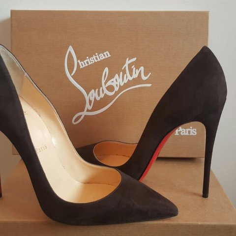 23a4b1447fe BRAND NEW Christian Louboutins Shoes. Brown Suede So Kate. a - Depop
