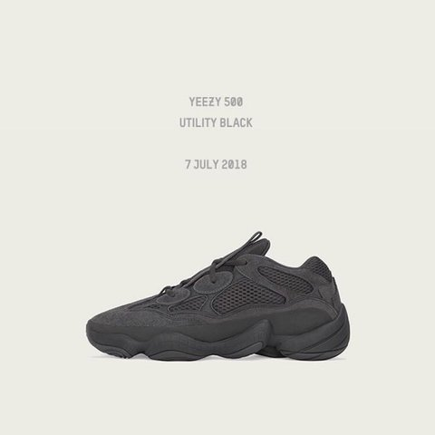 84451658d1118 YEEZY 500 - UTILITY BLACK - SIZE 8 - ORDER CONFIRMED FROM - Depop