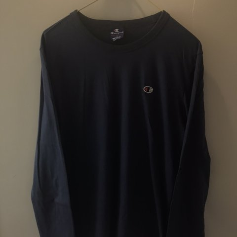 0c30aec3 @felixboucher. 22 days ago. Ashford, United Kingdom. Navy blue champion  long sleeve t shirt/ sweatshirt